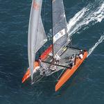catamarã / de regata / de popa aberta / em carbono