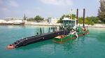 draga de sucção com desagregador / catamarã / com motor de centro / a diesel