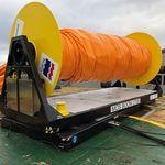 enrolador para barreira de contenção