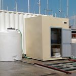 sistema de tratamento de águas residuais / de água doce / da água de lastro / para navio