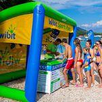 equipamento de diversão aquática toldo de proteção solar / inflável