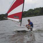 barco de vela ligeira individual