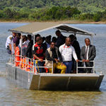 barco de passageiros / com motor de popa / em alumínio / jon boat