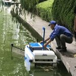 barcaça recolhedora de resíduos