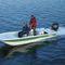 bay boat com motor de popa / com console central / de pesca esportiva / single skiff