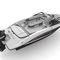 lancha de proa aberta com motor de popa / com console dupla / bowrider / para esqui aquático