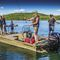 jon boat com motor de popa / com console central / de pesca esportiva / em alumínio