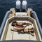 barco inflável com motor de popa / bimotor / semirrígido / com console central