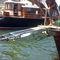 passarela para barco / telescópica / hidráulica / com controle remoto