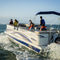 pontoon boat com motor de popa / para esqui aquático / de pesca esportiva / máx. 14 pessoas