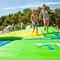 equipamento de diversão aquática curva de escorregar / inflável