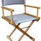 cadeira estilo diretor de cinema para barco / dobrável / em teca