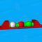 equipamento de diversão aquática salto em comprimento / colchão / plataforma / trave de equilíbrio