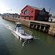 barco profissional barcaça recolhedora de resíduos / barcaça de combate à poluição / com motor de centro / em alumínio