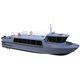barco profissional barco de busca e salvamento / barco para transporte de tripulação / barco auxiliar para mergulho / com motor de centro