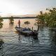 bass boat com motor de popa / com console dupla / de pesca esportiva / em alumínio
