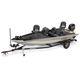bass boat com motor de popa / com console lateral / de pesca esportiva / em alumínio