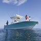 lancha de console central com motor de popa / bimotor / de pesca esportiva / offshore