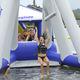 equipamento de diversão aquática baloiço / inflável