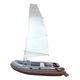 barco inflável com motor de popa / semirrígido / dobrável / sail-drive