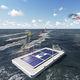 plataforma para eventos / flutuante / a energia solar